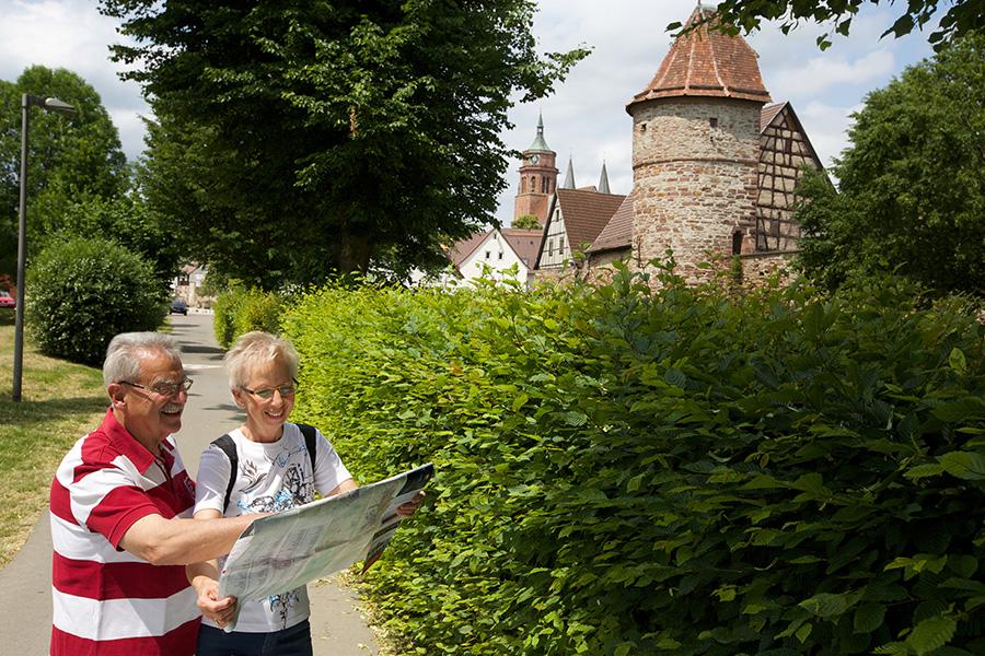 """Stadtrundgang: Blick vom """"Brühl"""" auf die Stadtkirche"""