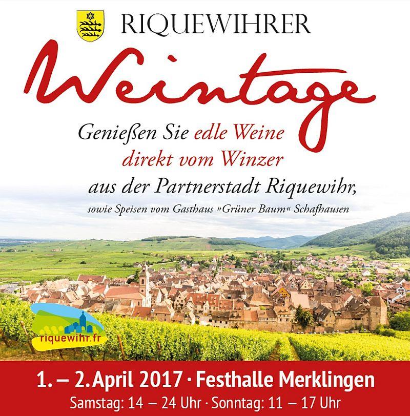 Riquewihrer Weintage 2017