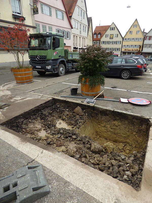 Marktplatz-Sanierung - Probebohrungen
