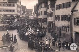 Fastnachtsspiel in Weil der Stadt (1910)