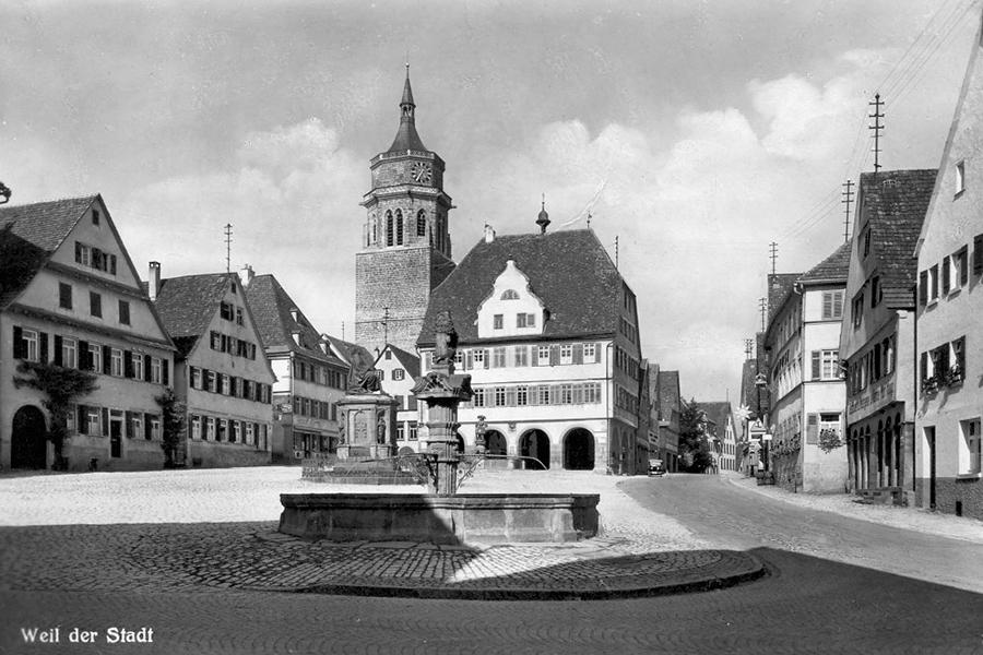 Marktplatz Weil der Stadt (1930)
