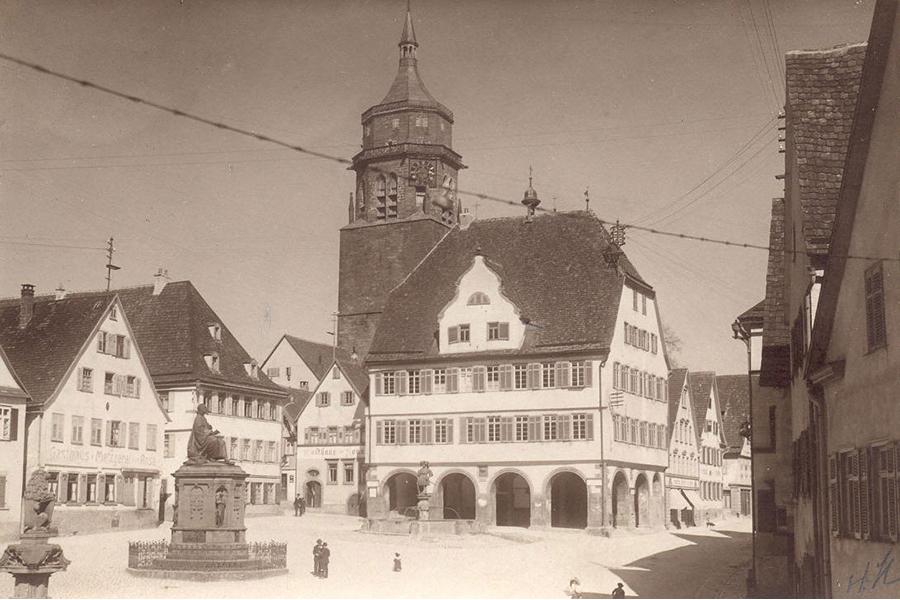 Weil der Städter Marktplatz im Jahr 1916