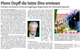 Nachruf Pierre Dopff