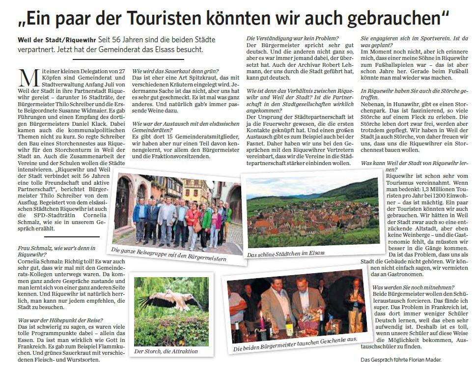 Stuttgarter Zeitung - Mittwoch, 12.07.2017 Ein paar der Touristen könnten wir auch gebrauchen