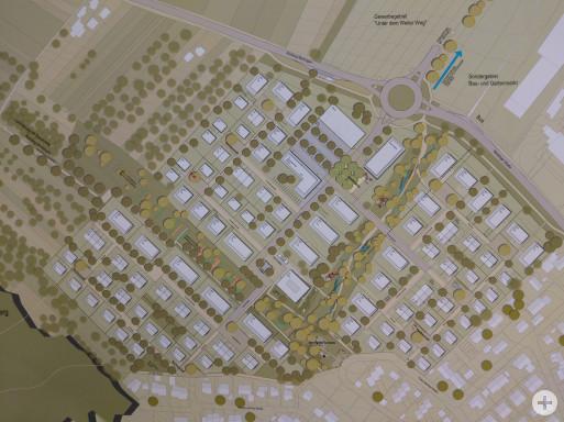 Modell des Baugebietes Häugern-Nord