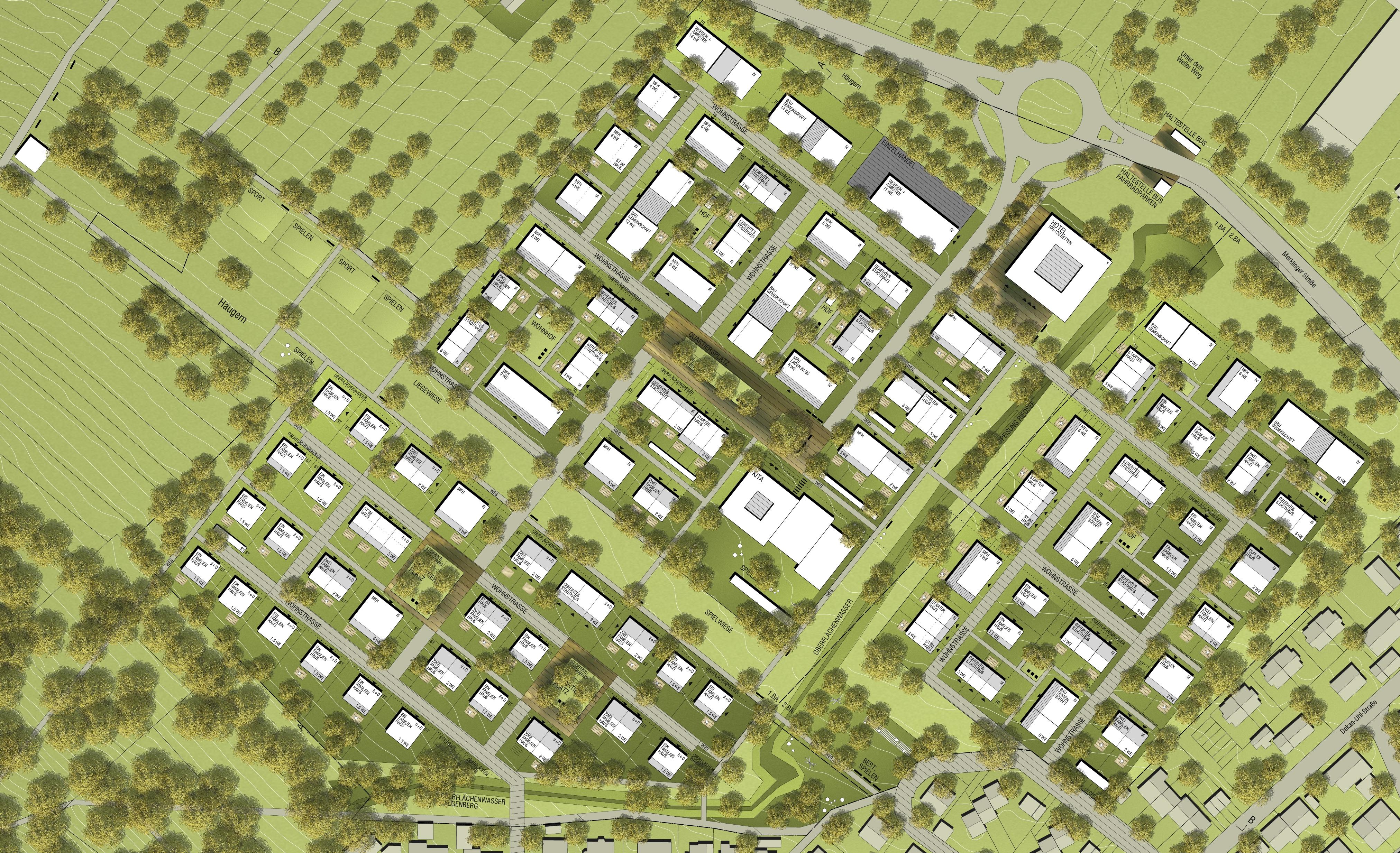 Plan 2. Rang Häugern-Nord Hähnig und Gemmeke