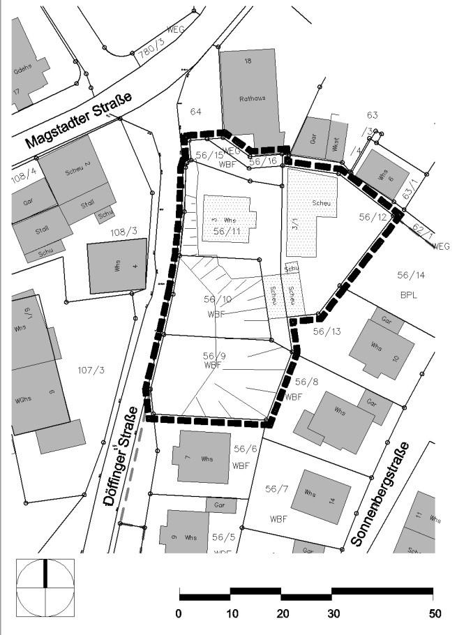 Bebauungsplan Sonnenberg 1. Änderung Geltungsbereich