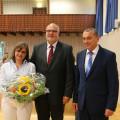 Wahlsieger Jürgen Katz mit Ehefrau und Bürgermeister Schreiber