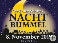 Titel Weiler Nachtbummel 2019