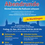 Weiler Abendrunde am 22.11.2019 in Weil der Stadt-Merklingen