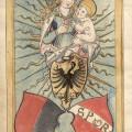 Erstmalige Darstellung des Weiler Wappens im Titelvorsatz des Spitallagerbuchs