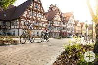 Radfahrer in der Stuttgarter Straße