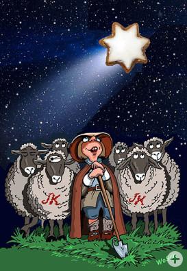Karikatur Kepler-Weihnachtsmarkt
