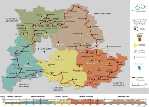 Karte E Bike Region Stuttgart