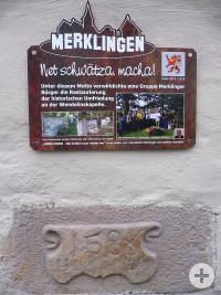 Schild Mauerprojekt Merklingen