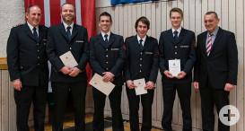 Neue Feuerwehranwärter