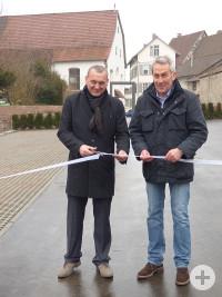 Symbolische Parkplatz-Eröffnung am Klösterle