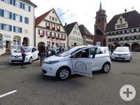 E-Fahrzeuge auf dem Marktplatz