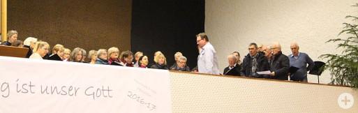 Chorvereinigung beim Konzert