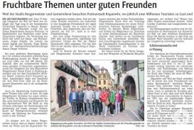 Fruchtbare Themen unter guten Freunden - Kreiszeitung Böblinger Bote 2017-07-11