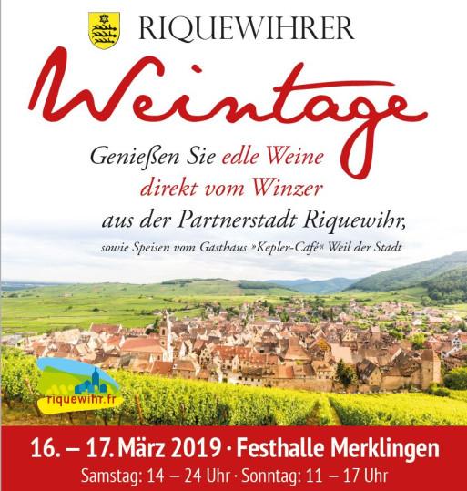 Plakat Riquewihrer Weintage 2019