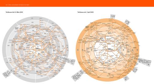 Netzspinne Streckennetz mit Tarifzonen VVS