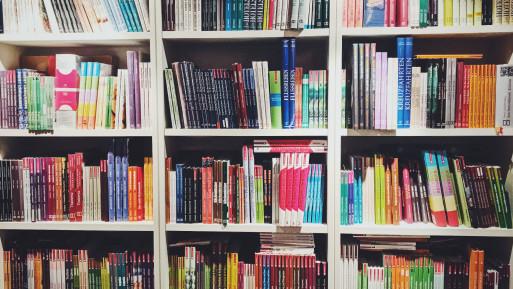 Bücherregal beim Hädecke Verlag