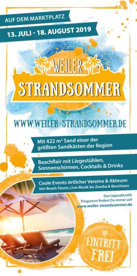 Programm Weiler Strandsommer 2019