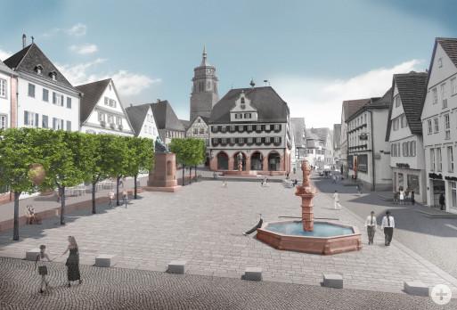 Vision des neu gestalteten Marktplatzes