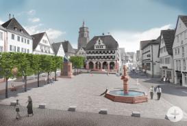 Zukunftsplan des Marktplatzes
