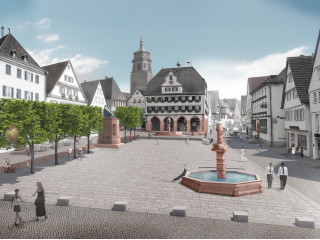 Vision des neugestalteten Marktplatzes