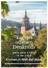 Deckblatt Infomaterial Kirchen in Weil der Stadt