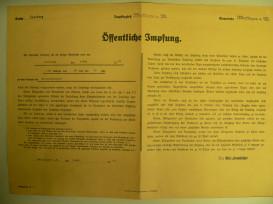 Öffentliche Impfung Aufruf 1941