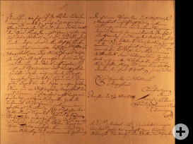 Brief Sartor an Rat Seiten 2 und 3