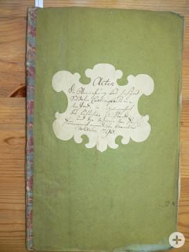 Titelblatt der Akte aus dem JAhre 1790