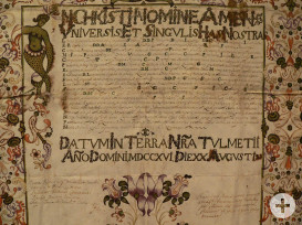 Abstammungsurkunde des Italienischen Handelsmanns Mathäus de Crignis